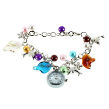 [LESHP]Kiss Ocean- dolphin Alloy Charming Quartz Bracelet Bangle Wrist Watch Women Multicolor