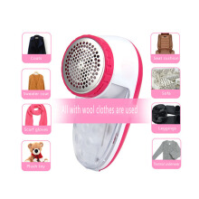 Jantens Electric hair ball trimmer sweater clothes to the fleece dry battery ball remover Pink