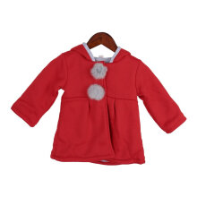 [COZIME] Baby Girls Long Sleeves Soft Cotton Coat Cartoon-shaped Warm Hooded Outerwear Gray1  10