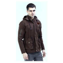 G-SHOP - MEN SWEATER JAKET HOODIES DISTRO PRIA - RNI 1445 - COKELAT SIZE- M