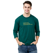 FACTORY OUTLET UG1802-0009 Mens T-Shirt With Print - Green