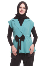 Zahra Signature - Outer Shirt Syila Green All Size