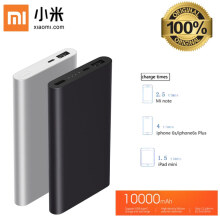 UniqueShop - Power Bank Xiaomi Mi 10000mAh Slim - Xiaomi Original - Fast Charging - Perak
