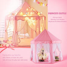 Farfi Lovely Star Pendant LED Light Children Princess Fairy Play House Castle Tent Toy as the pictures