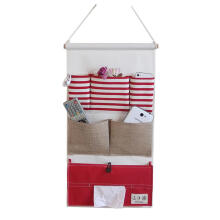 Farfi Striped Wall Door Hanging Storage Pouch Bag Organizer with Tissue Box Holder