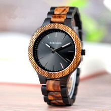 PEKY Wooden watch men Bayan kol saati quartz men watch Black