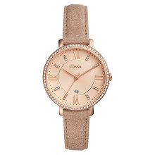 Fossil ES4292 Jacqueline Ladies Rose Gold Dial Brown Leather Strap [ES4292]