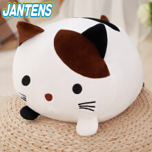 Jantens 1pc 30cm creative kawaii plush cat toy soft padded cotton pillow cartoon animal child baby gift White