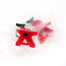 COZIME 2Pcs 3Ton Metal Adjustable Jack Stand for 1/10 Crawler RC Car RC4WD D90 SCX10 Red