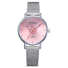 jam tangan wanita fashion mesh band flower casual dress jam tangan cewek
