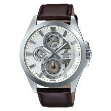 Casio Edifice ESK-300L-7AVUDF Leather Strap [ESK-300L-7AVUDF] - Brown