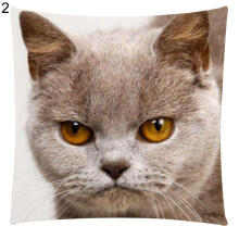 Farfi Art Cat Print Cotton Linen Pillow Case Car Seat Cushion Sofa Cover Decor