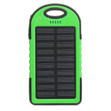 Blitzwolf 4 Colors 5000mAh Solar Power Bank LED USB Portable Charger Battery Case Green