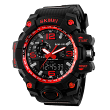 SKMEI Jam Tangan Pria Digital Analog 1155 Red Water Resistant 50M