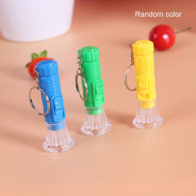 [kingstore]1PC Mini Plastic Hand Torch Portable Keyring LED Flashlight (Random Color) Random Random
