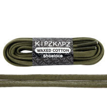 KIPZKAPZ WS39 Waxed Cotton Flat Shoelace - Olive Green [6mm]
