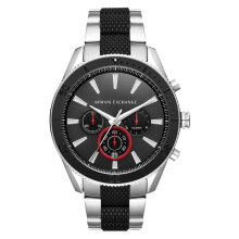 Armani Exchange AX1813 Black Chronograph Stainless Steel & Silicone Strap [AX1813]