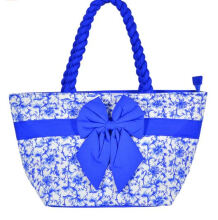 Pataya Flowery Print with Twisted Rope Blue