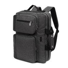 COZIME KINGSLONG 15.6 inch Outdoor Travel Backpack Notebook Laptop Shoulder Bag Grey