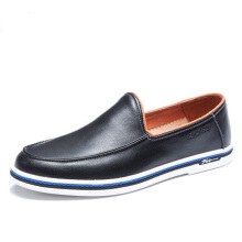 AOKANG 2018 Summer men shoes leather genuine leisure shoes breathable comfortable casual shoes man flat fashion shoes black