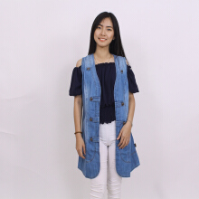 ADORE Cardigan MJ 3baris Light Blue All Size