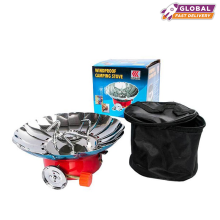 Windproof Camping Stove Red