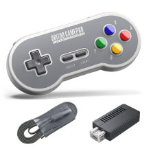 COZIME For 8Bitdo SF30 2.4G Wireless Controller SFC Classic Edition Gamepad Grey
