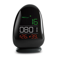 JDWonderfulHouse AUGIENB Laser Sensor Air Quality Monitor PM2.5 Detector Temp Humidity Meter Time