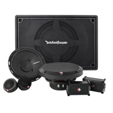 ROCKFORD FOSGATE Paket Audio Mobil Midbass (Active Subwoofer + Speaker 2 Way)