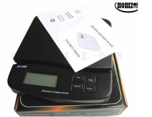 Jantens Digital 25kg x 1g 55lb Parcel Letter Postal Postage Weighing LCD Electronic Scales Black 25kg x 1g