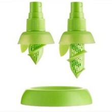 Jantens Cheap 2Pc/set Lemon Sprayer Fruit Juice Citrus Lime Juicer Green