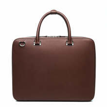 Faire Leather Co. - Bond VT Slim Briefcase (Dark Brown) | Briefcase for Men