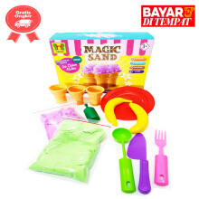 Tomindo Magic Sand Pasir Kinetik Pasir Ajaib Ice Cream Maker