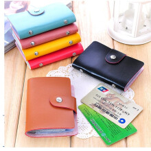Likers Dompet Kartu Mini Import Bahan Kulit 24 Slot - Multicolour