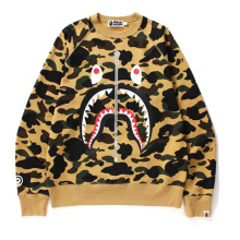 Bape Camo Yellow Shark Crewneck Yellow Size M