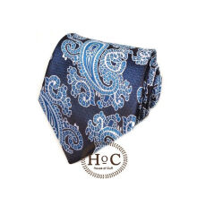 Houseofcuff Dasi Neck Tie Motif Wedding Best Man BLUE PAISLEY BATIK TIE Blue