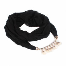 Farfi Soft Bali Yarn Scarf Shell Bead Turban Cap Muslim Hat Women Hijab Neckerchief