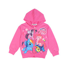 SiYing cotton printed children's jacket zipper hooded thin girls cotton coat