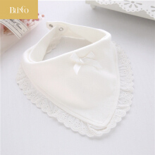 BLINGO BY05 Fashion cotton newborn lace bow baby bib cute girl and boy smashing cloth baby bib baby saliva towel