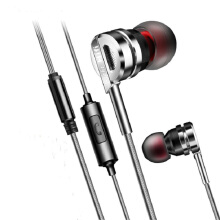 Jantens Headphone earphone with microphone for headphones for MP4 for mp3 for iphone xiaomi huawei computer Silver