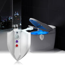 Farfi UV-C Sterilization 8-Color Sensor Motion Activated LED Toilet Seat Night Light White