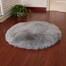REFURBISHHOUSE faux sheepskin wool carpet 30 x 30 cm Fluffy soft longhair decorative carpet cushion Chair sofa mat