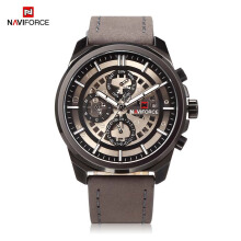 NAVIFORCE Male Quartz Watch Six Pointers Week Date Display Imitated Mechanical Dial Waterproof Wristwatch