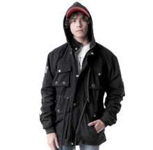 G-SHOP - MEN SWEATER JAKET HOODIES DISTRO PRIA - JNL 1348 - HITAM SIZE- M