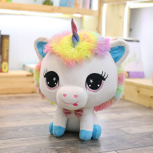 Jantens 1pc 35cm cute unicorn plush toy soft filled cartoon unicorn doll cute animal children toys