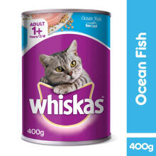 Whiskas can  Adult 1+ Ocesan Fish 400gr , jual per box isi 24 kaleng