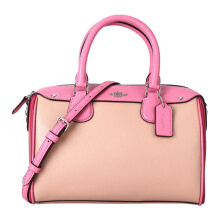 Coach Women's Pink Leather Mixed Color Shoulder Handbag F28956SVPMC