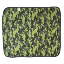 Cribcot Hooded Blanket Army Green