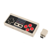COZIME Plug and Play Wireless Turbo Controller With Receiver for NES Classic Edition Grey