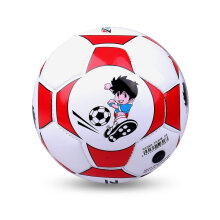 Size 2 Standard PU Leather Soccer Ball Training Football With Net Needle Red